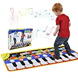 Musical Piano Mat 19 Keys Piano Keyboard Play mat Portable Musical Blanket Build-In Speaker & Recording Function For Kids Toddler Girls Boys