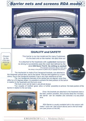 Ergotech Dog Guard, Pet Barrier Net and Screen RDA65-S14 for KIA Sorento, car Model Produced Since 2015, for Luggage and Pets