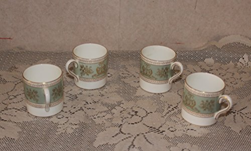 (Wedgwood Columbia Sage Demitasse Cups - Lot of 4)