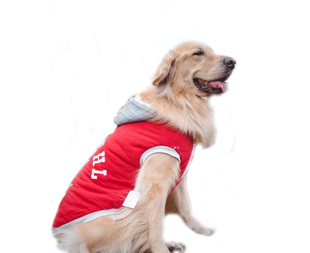 Red 9---72cm Red 9---72cm Large Dog Clothes,Dog Jacket Coat Hoodies Fleece T-Shirt Warm Winter Clothes Soft Cotton Clothing Pet Coats for Very Large Dogs Labrador golden Retriever (4XL-72cm, Red)