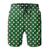 confirm vt Irish Flag Mens Quick Dry Swim Trunks Beach Shorts