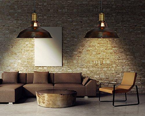 Lampada Vintage Industriale : Fuloon lampadario vintage lampade a sospensione plafoniera in