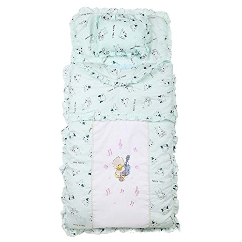 Sport do Infant Cartoon Anti-kicking Sleeping Bag Cute Little Duck Playing the Guitar Baby Pure Cotton Healthy Wrap Quilt (Jake And The Neverland Pirates Sleeping Bag)