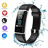 Teamyo Fitness Tracker HR, Activity Tracker Watch Smart Bracelet with Heart Rate Monitor, Color Screen with Step Counter, Calorie Counter, Pedometer Watch, Waterproof Smart Band