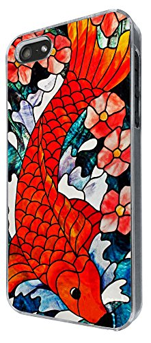 894 - stained glass koi Red Fish Design iphone 5 5S Coque Fashion Trend Case Coque Protection Cover plastique et métal