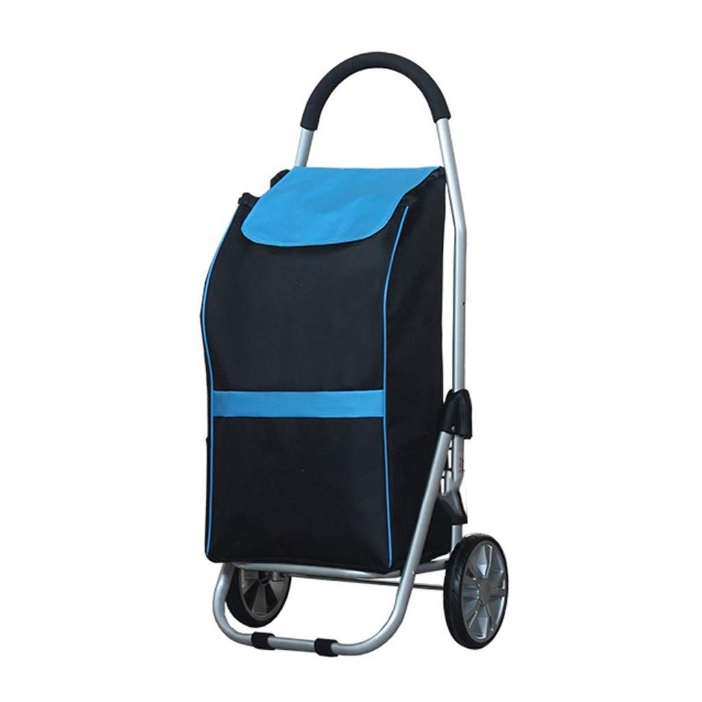Lxrzls Old People Shopping Trolley - Household Portable Small Cart - Foldable Luggage Grocery Cart - High Capacity