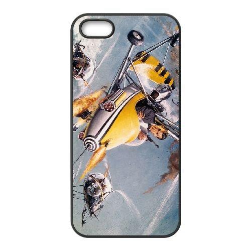 007 James Bond 006 coque iPhone 5 5S cellulaire cas coque de téléphone cas téléphone cellulaire noir couvercle EOKXLLNCD20954