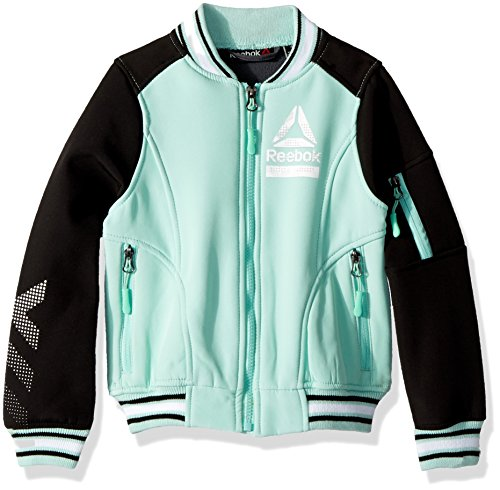 Reebok Girls' Active Outerwear Jacket,Bomber Mint,7/8