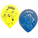 Amscan Electrifyingly Cute Birthday Printed Balloons Childrens Party , Pikachu and Friends, 36 Pieces