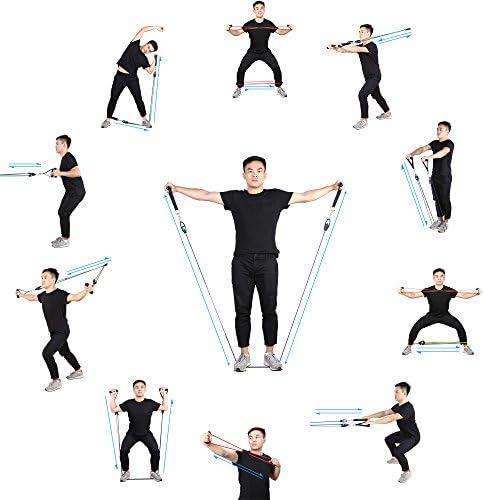CookJoy Bandas de Resistencia Ejercicio Fitness Set 5 Colores, Bandas elásticas para rehabilitación y Entrenamiento Gimnasio, con Guía de Ejercicios, ...