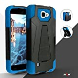Coolpad Catalyst case, ( Metro PCS, T-Mobile ), Luckiefind New Premium Hybrid Dual Layer Case With Stand, Stylus Pen & Screen Protector Accessory. (Stand Blue)