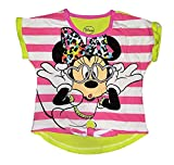 Disney Youth Girls Minnie Mouse Heart Glasses HiLo Fashion Top - Pink (4T)