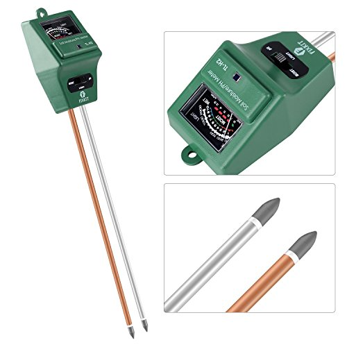 3-in-1 Gardening Soil Measuring Instrument Moisture Meter PH Meter - Green - 7