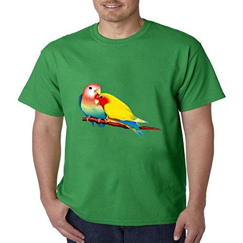 VIPxmax Art Birds Retro Heavyweight Casual Costum Hard Rock Short Sleeve Mens T-shirt Size -