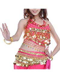 Tribal Belly Dance Halter Banadge Bra Top With Pad, For Christmas