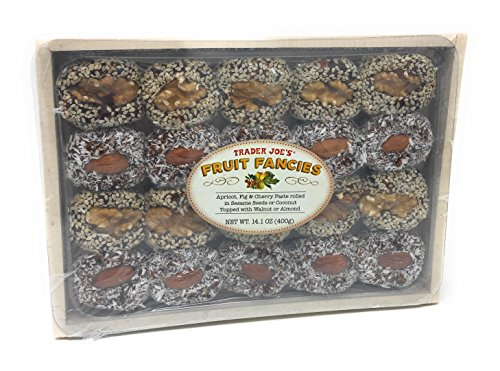 (Fruit Fancies Crate: Apricot, Fig, and Cherry in Sesame Seeds or Coconut, With Walnut or Almond by Trader Joe's)