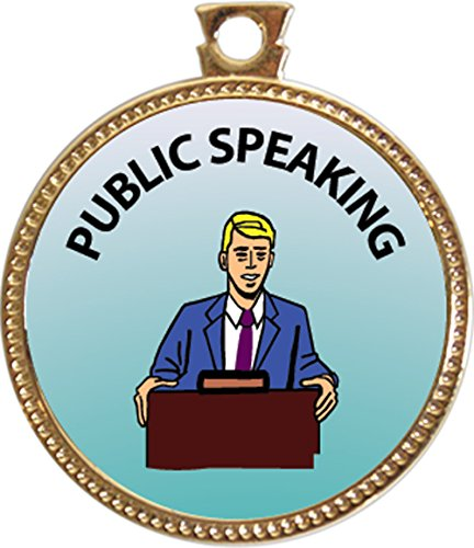 "Public Speaking Award, 1 inch dia Gold Medal ""Special Knowledge Collection"" by Keepsake Awards"