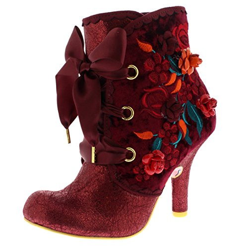 Irregular Choice Autumn Harvest, Stivali donna rosso Red
