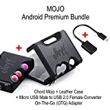 Android Premium Bundle - CHORD Electronics Mojo (portable DAC/Headphone Amplifier), Chord Mojo Leather Case and Micro USB Male to USB 2.0 Female Converter On-The-Go (OTG) Adapter