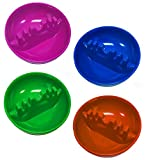 Set of 4 Neon Vibrant Colors ALAZCO Round Plastic Cigarette Cigar Tabletop Ashtray (Blue - Pink - Green & Orange in each set) AZ4NAS