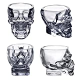 EASYTAR Crystal 3D Skull Pirate Shot Glass Drink Cocktail Beer Cup Set Of 2
