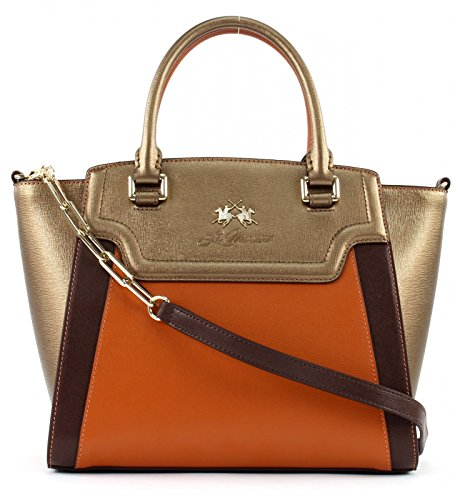 LA MARTINA La Portena Handbag Bronze / Seal Brown Apricot Naranja