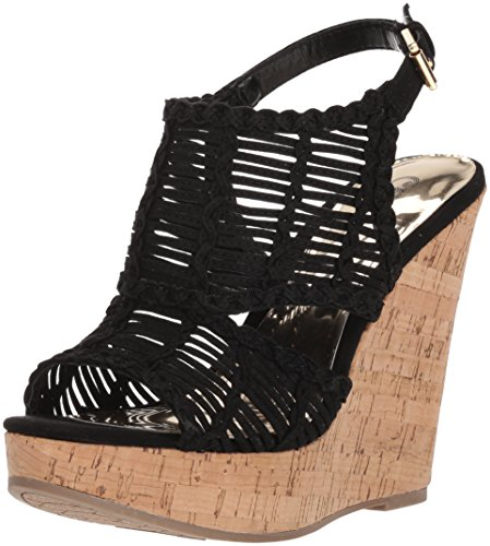Carlos by Carlos Santana Women's Bellini Wedge Sandal, Black, 8 M US