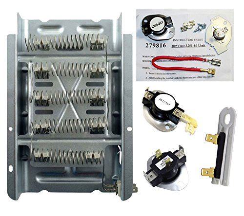 Dryer Heater Thermostat Fuse Kit That Works With Estate EED4400WQ0 by Dryer Parts