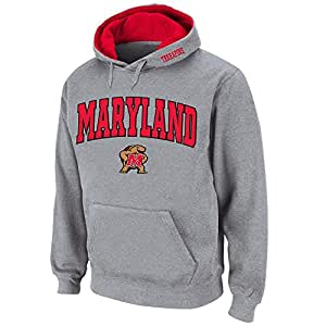 Mens NCAA Maryland Terrapins Pull-over Hoodie (Heather Grey) - 3XL