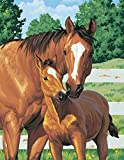 Dimensions Needlecrafts PaintWorks Paint By Number Kit, Mother's Pride