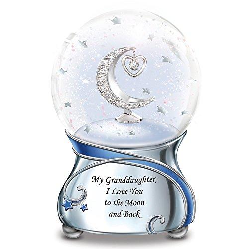 Snowglobe With Swarovski Crystal For Granddaughter Plays Always In My Heart by The Bradford (Swarovski Globe)