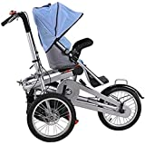 MISHOW 3 in 1 Mother Bicycle Baby Stroller Pushchair 3 Wheel Bike Folding Child Cargo Bicycle MBTS01B