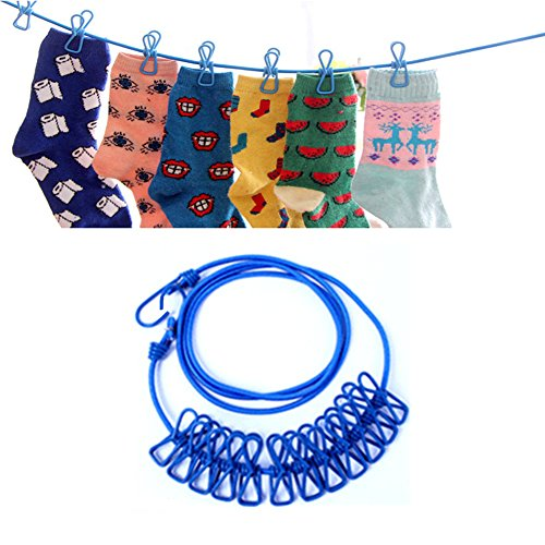 daixers-portable-travel-outdoor-windproof-clothesline-with-12-clips-blue