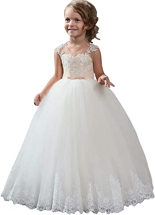 Amazon.com: Suiun Dress Girls Birthday Holy Eucharist Ball ...