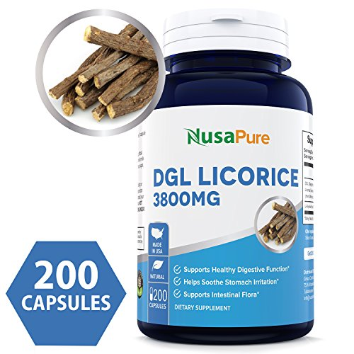 DGL Licorice Extract 3800mg 200 Capsules (Non-GMO & Gluten Free) - Supports Digestive & Respiratory Function ★★★100% Money Back Guarantee - Order Risk Free!★★★ ()