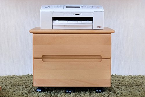 ISSEIKI プリンターカート ナチュラル 幅50 キャスター付きで移動がらくらく 木製家具 【FL-35-5】 B00VV1GLGO