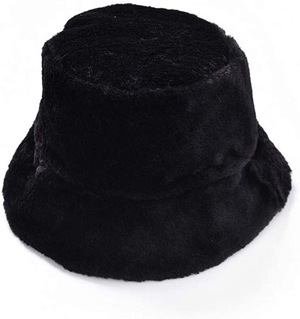 Amazon.com : Women's Bucket Hats Fleece Plush Warm Winter Beanie Cap  Fashion Bucket Cap : Clothing