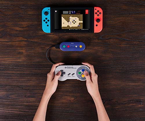 51YASzzjNVL - 8Bitdo Gbros. Wireless Adapter for Nintendo Switch (Works with Wired GameCube & Classic Edition Controllers) - Nintendo Switch