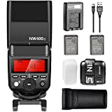 Neewer 2.4G HSS 1/8000s TTL GN36 Flash Speedlite for Sony A7 A7S A7SII A7R A7RII A7II A6000 A6300 A6500 Cameras,Includes:NW400S Flash, N1T-S Trigger , USB Charger, Batteries, Hard Diffuser