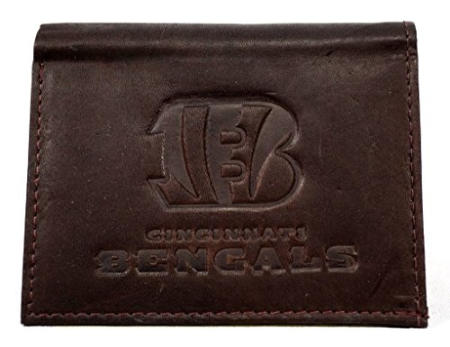 NFL Cincinnati Bengals Tri-Fold Leather Wallet, -