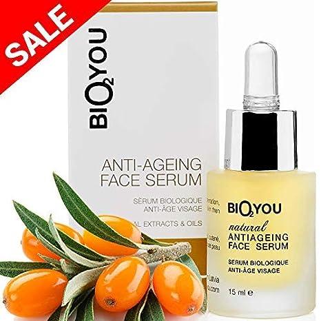Serum Facial Antienvejecimiento con Vitamina C +Ácido hialurónico +Aloe Vera +Pantenol +Provitamina
