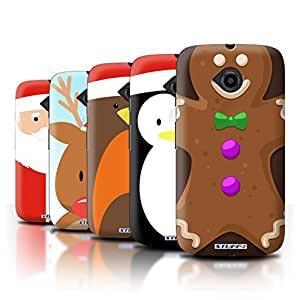 STUFF4 Phone Case / Cover for Motorola Moto E (2015) / Pack 6pcs / Christmas Character Collection