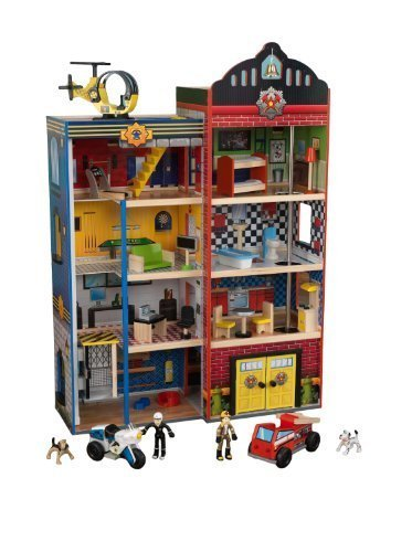 KidKraft Deluxe Home Town Heroes Rescue Wooden Play Set (63265) by KidKraft