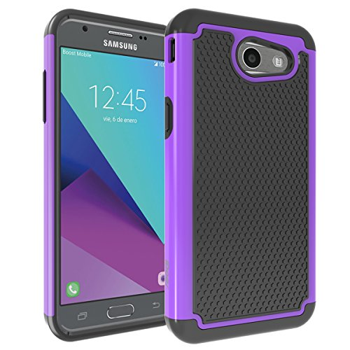Price comparison product image Shockproof J3 Case Phone Case SAMSUNG GALAXY J3 2017 Slim Fit Matte Texture Shock Proof Lightweight Ultimate Drop Protection Cover Black Purple