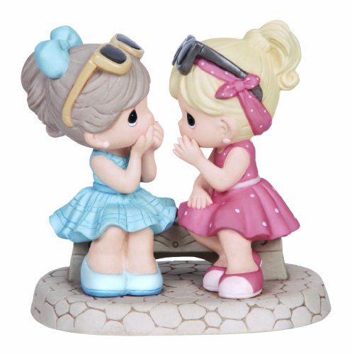 (Precious Moments,  That's What Friends Are For, Bisque Porcelain Figurine, 134016 )