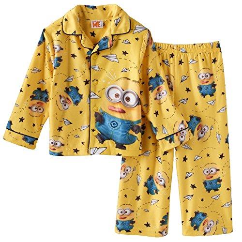 2 Piece Coat Pajamas - Despicable Me Boys' Toddler Class Clown 2-Piece Pajama Coat Set, Yellow, 4T