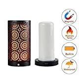 ZDYLM-Y LED Flame Effect Light Bulb Flameless Candles Effect Magnetic Light - Gravity Sensor - USB Battery Operated - Lamps for Home/Hotel/Bar Party Decoration