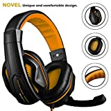 DLAND Gaming Headset, 3.5mm Wired Bass Stereo Noise Isolation Gaming Headphones with Mic for Laptop Computer, Cellphone, PS4 and so on- Volume Control