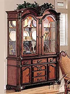 Acme Furniture Chateau De Ville Collection 04079 62 China Cabinet With 4 Doors 6 Drawers