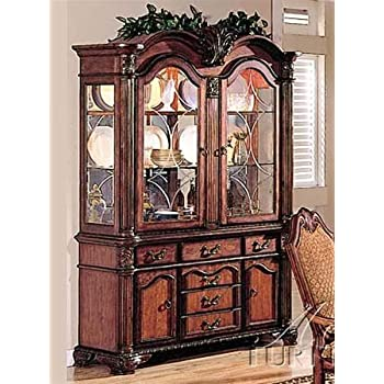 Acme Furniture Chateau De Ville Collection 04079 62u0026quot; China Cabinet  With 4 Doors 6 Drawers